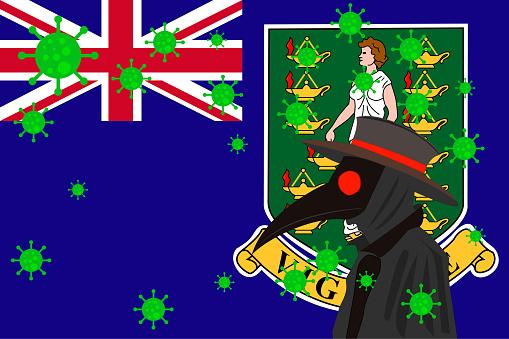 DR PESTE BANDERA BRITISH VIRGIN ISLANDS