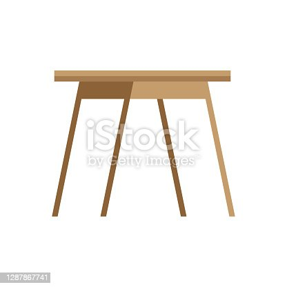 Wooden coffee table. vector