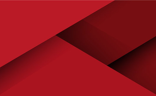 Abstract red background with lines and shadows - Vector illustration