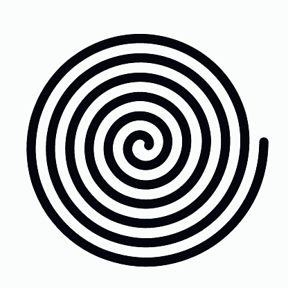 psychedelic figure of a spiral, circulation. flat vector illustration isolated