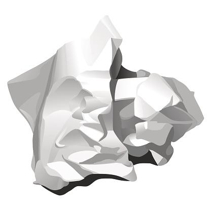CRUMPLED PAPER (white)