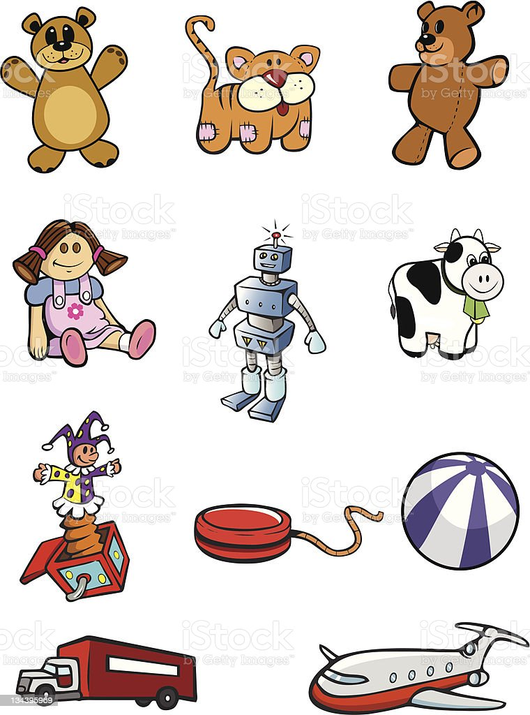 TOYS COLLECTION royalty-free stock vector art