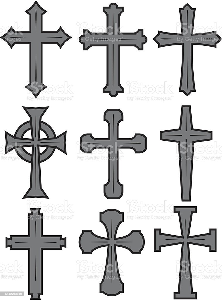 CROSSES royalty-free crosses stock vector art & more images of baptist