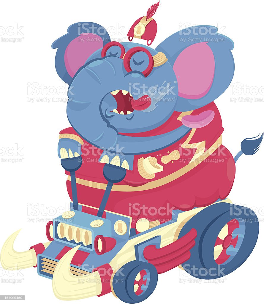 ELEPHANT RACING royalty-free elephant racing stock vector art & more images of animal