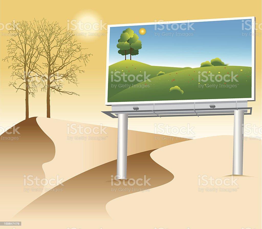 DESERT BILLBOARD royalty-free desert billboard stock vector art & more images of advertisement