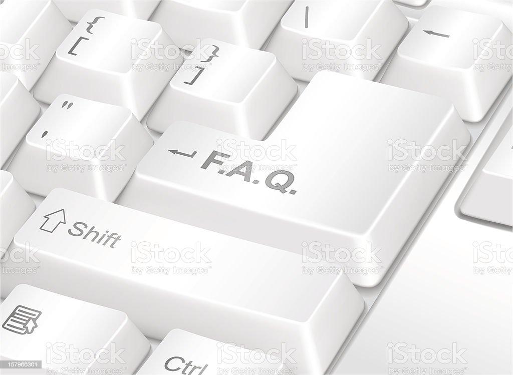 F.A.Q. vector art illustration
