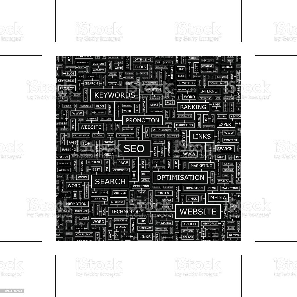 SEO royalty-free stock vector art