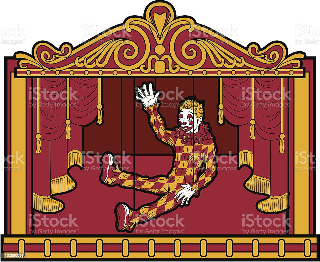 MARIONETTE THEME royalty-free stock vector art