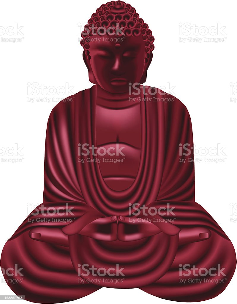 RED BUDDHA royalty-free red buddha stock vector art & more images of beauty