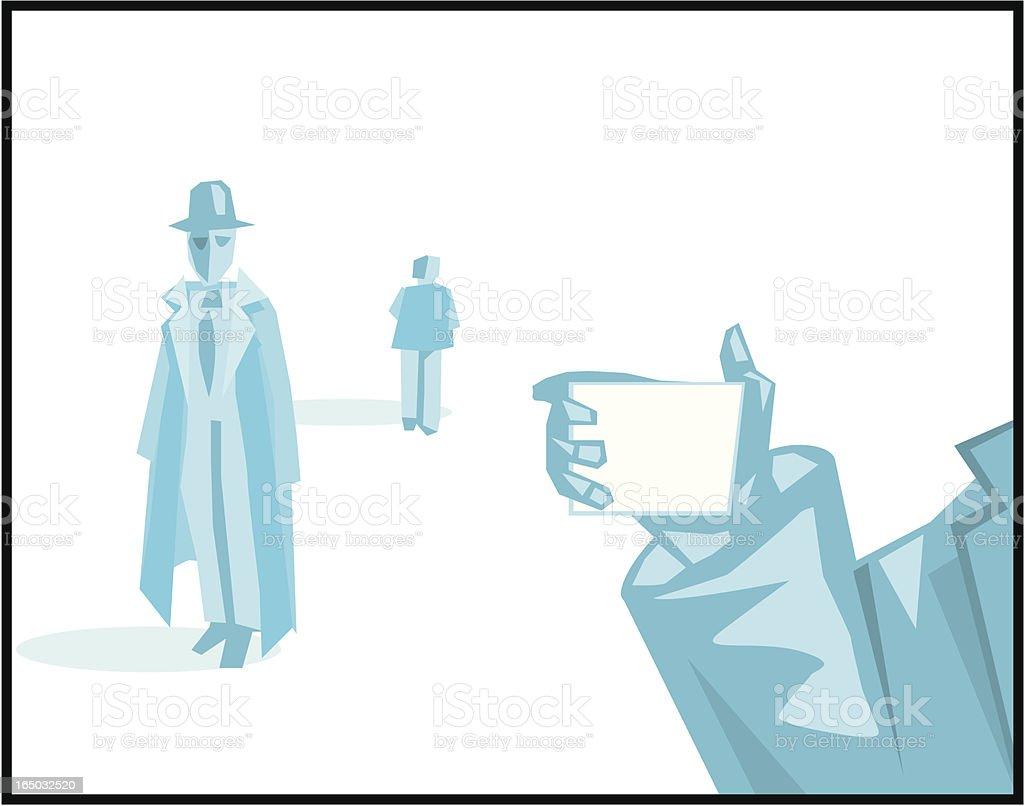 FBI! vector art illustration