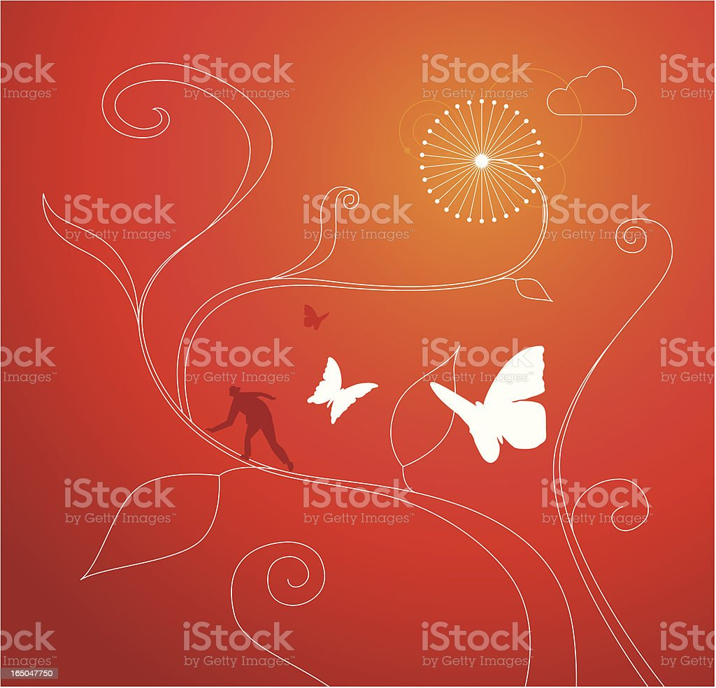 MAGIC BEANS royalty-free stock vector art