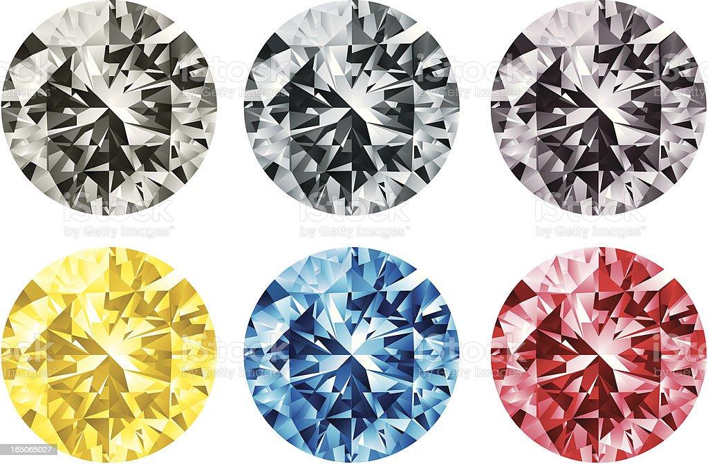 COLOUR DIAMOND royalty-free stock vector art