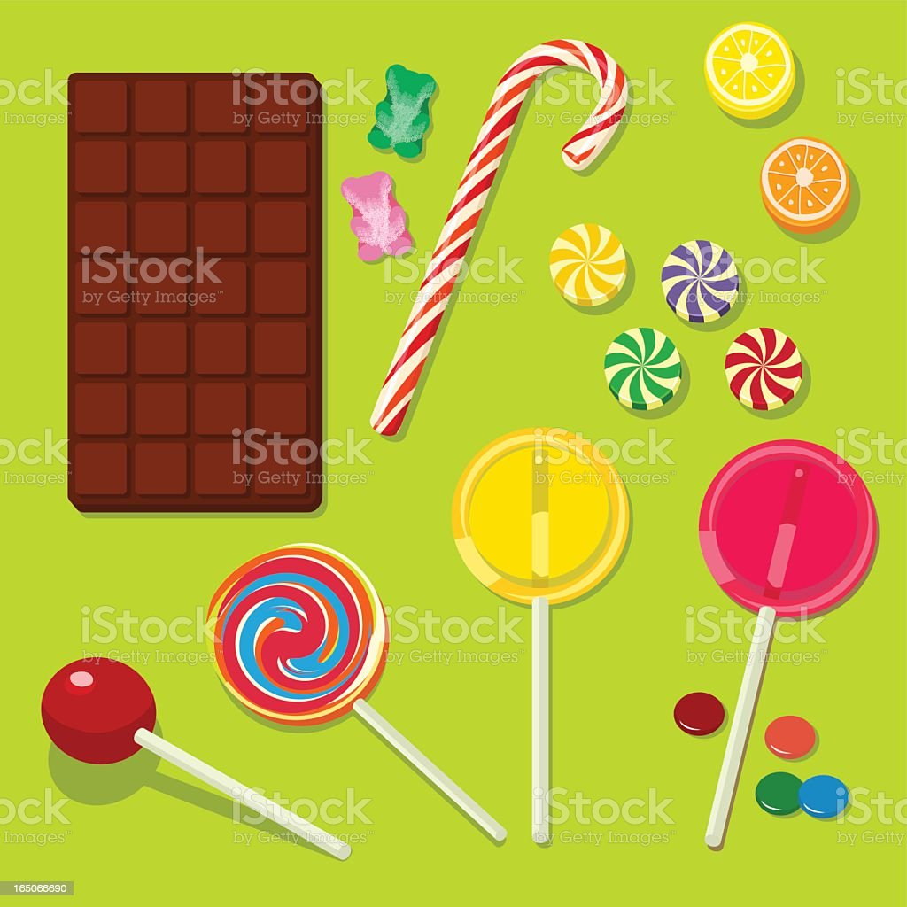 CANDIES CHOCOLAT SWEET royalty-free stock vector art