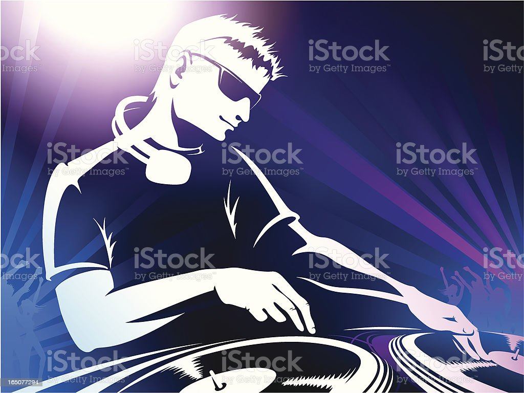 DJ vector art illustration