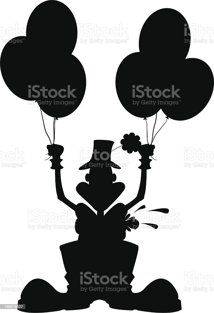 CIRCUS CLOWN SILHOUETTE royalty-free circus clown silhouette stock vector art & more images of adult