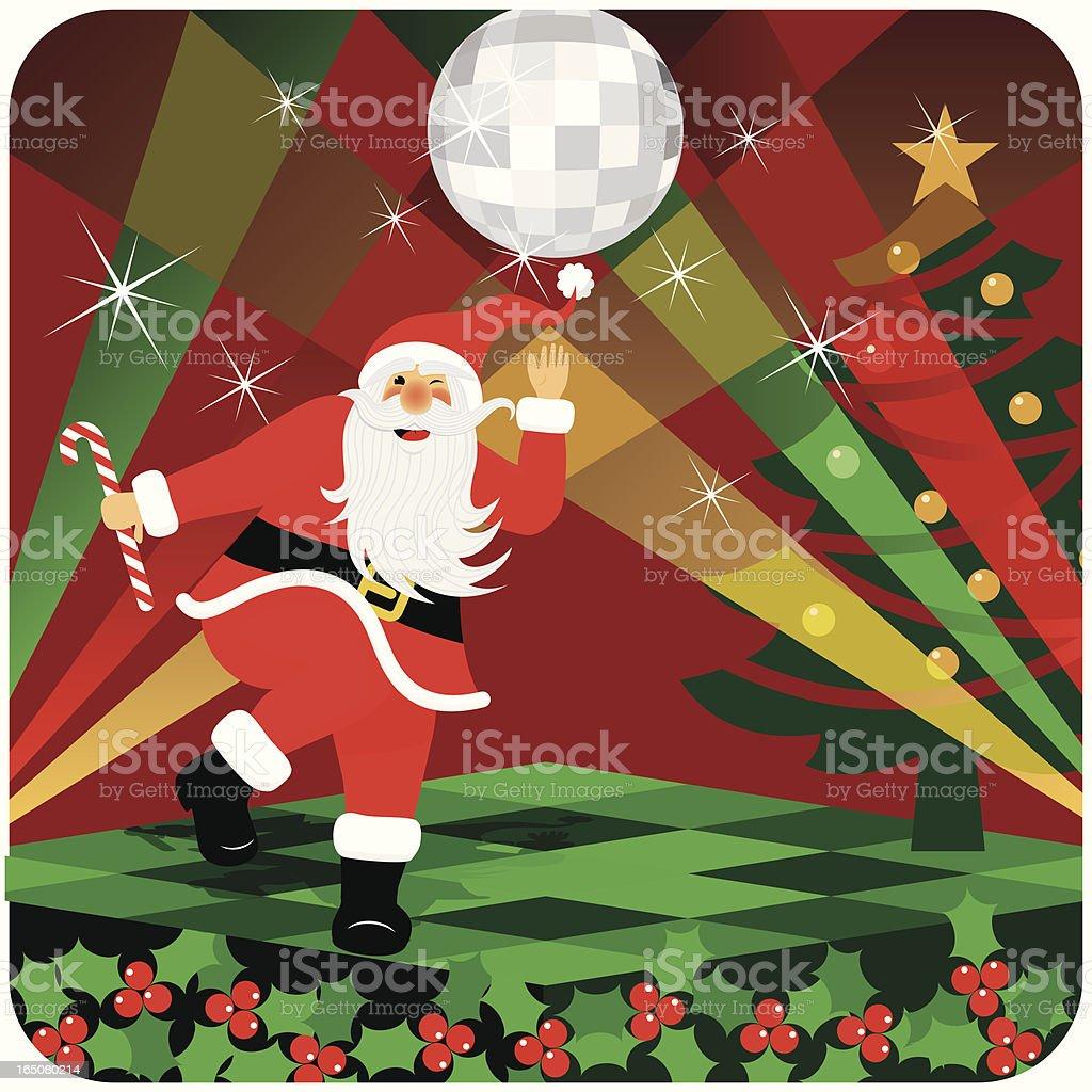 SANTA DISCO royalty-free santa disco stock vector art & more images of carnival - celebration event
