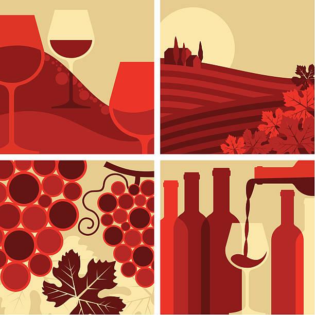 bildbanksillustrationer, clip art samt tecknat material och ikoner med wine set - vitt vin glas