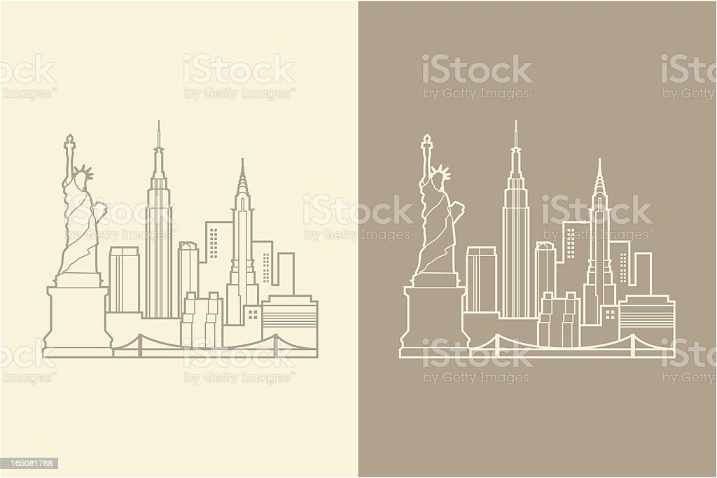 NYC royalty-free nyc stock vector art & more images of bridge - built structure