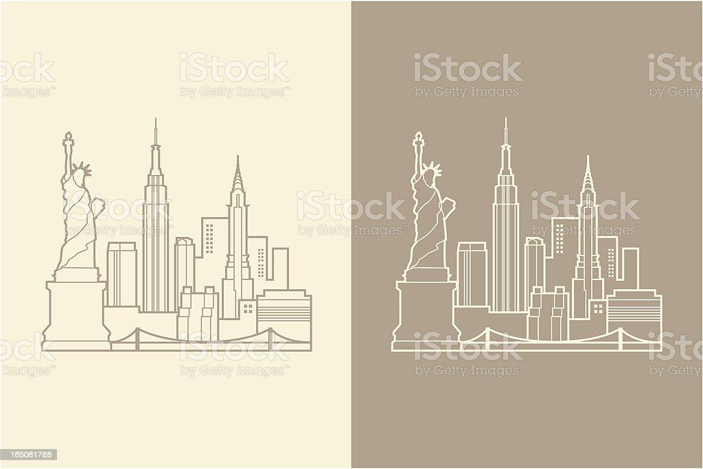 NYC vector art illustration