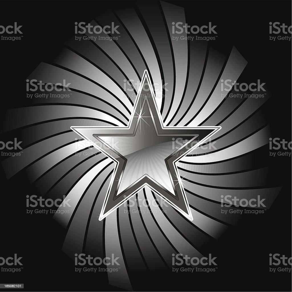 STAR TWIST ELEMENT royalty-free stock vector art