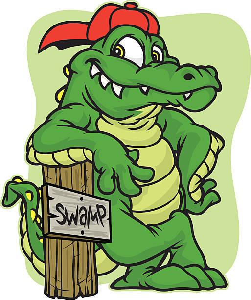 gator lean - alligator stock illustrations