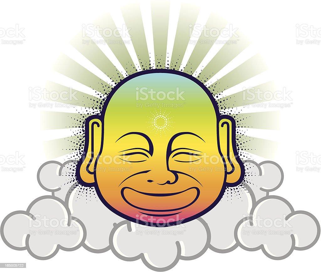BUDDHA FLYING royalty-free buddha flying stock vector art & more images of buddha