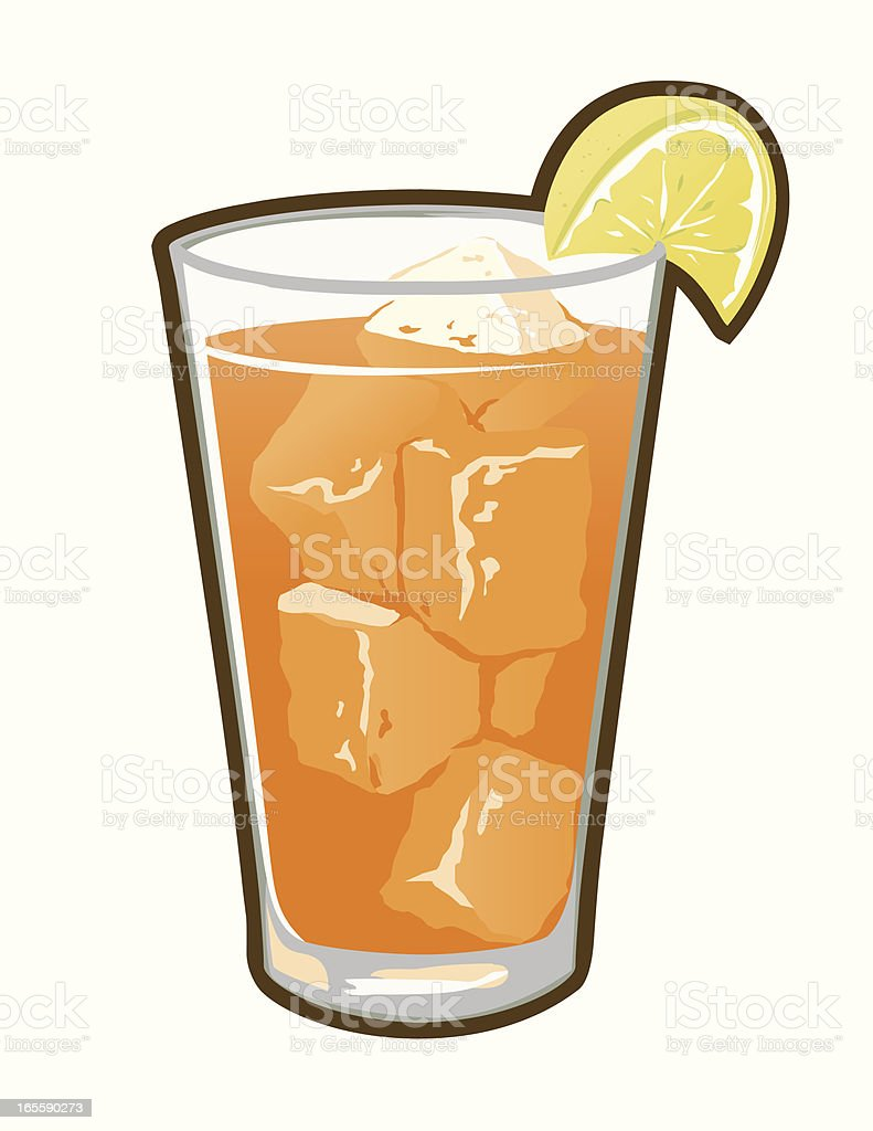 VECTOR ICED TEA, COLD REFRESHMENT royalty-free stock vector art