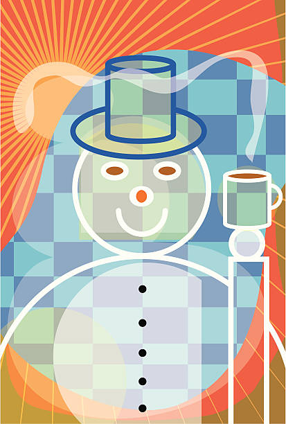 COFFEE SNOW vektorkonstillustration