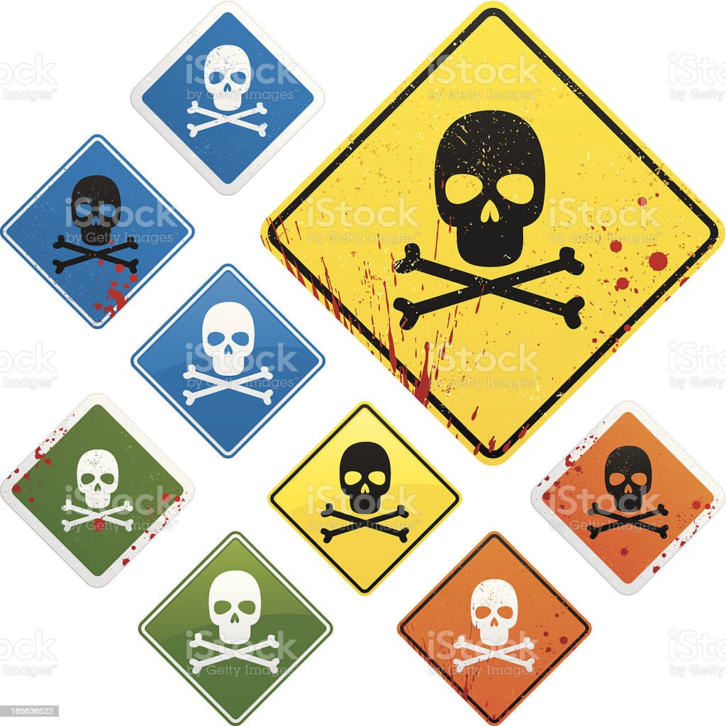 DANGER SIGNS! royalty-free stock vector art