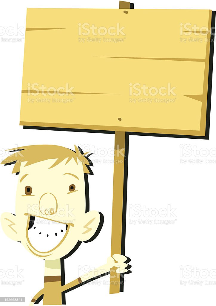 SIGN! royalty-free stock vector art