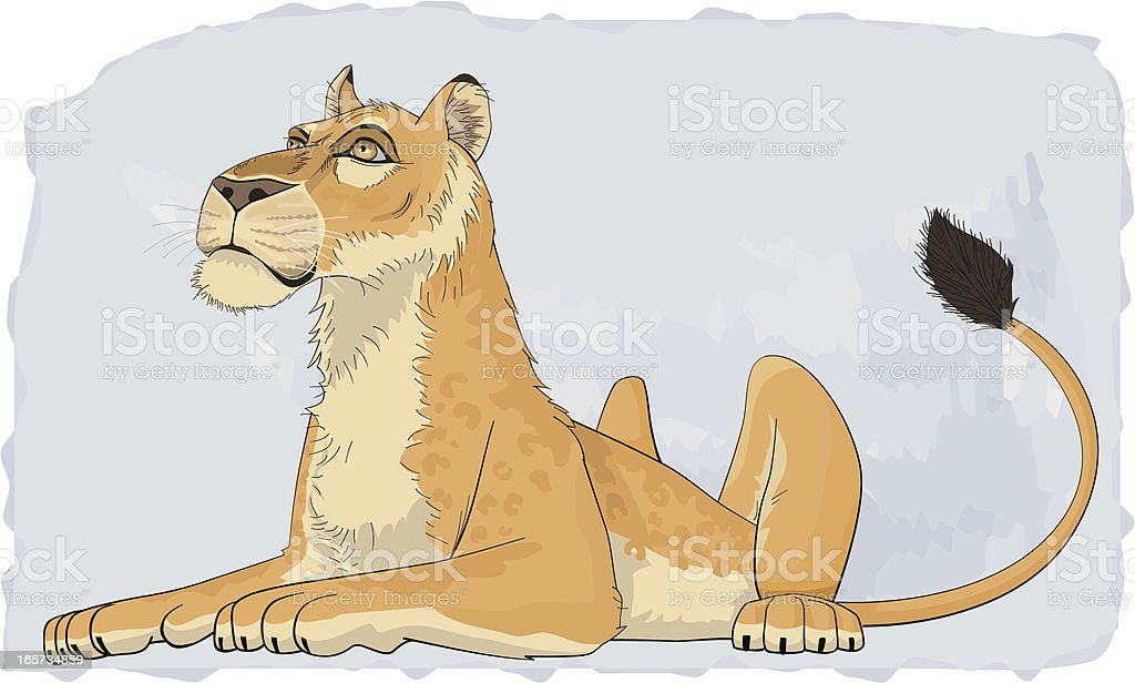 LIONESS royalty-free stock vector art