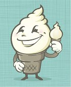 THIS IS A ICE CREAM KID, CAN BE USED IN MANY DIFFERENT FLAVORS. THE ICE CREAM KID HAS A FACE AND HIS VERY OWN TREAT. SILLY GLOVED HANDS AND EVEN FEET TO GET AROUND WITH.