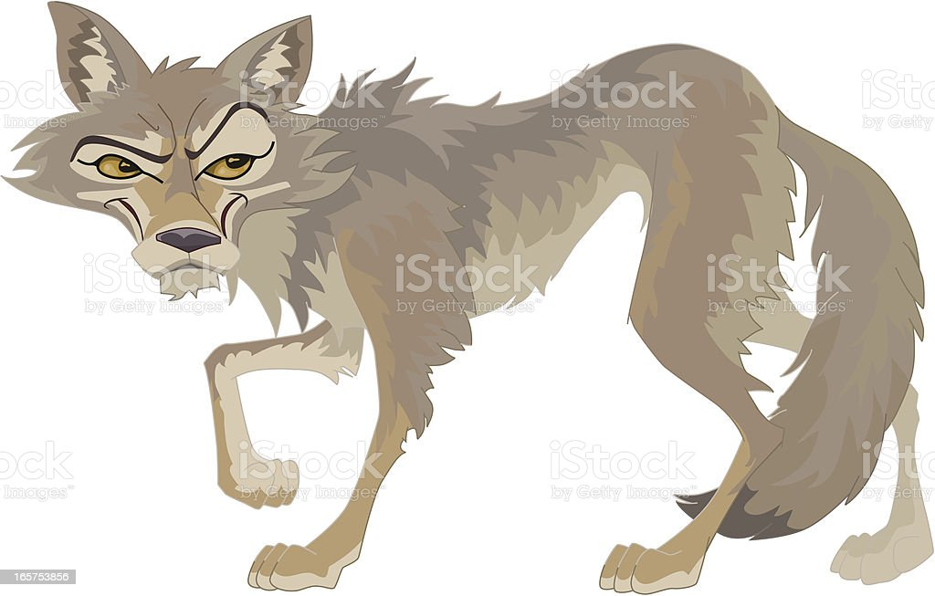 COYOTE royalty-free stock vector art