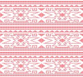 THIS IS A SOLID RED AZTEC STYLE OR PERUVIAN KNIT PATTERN DESIGN READY TO BE USED FOR MOCK UP SWEATERS OR HATS OR GLOVES OR JACKETS. SEAMLESS AS WILL BE NEEDED.