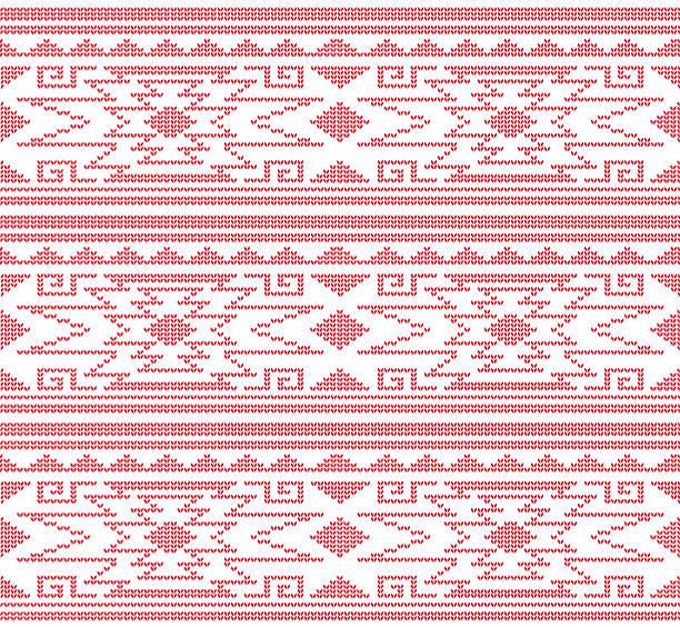 아즈텍-페루 뜨개질하다 패턴 - 남미 문화 stock illustrations