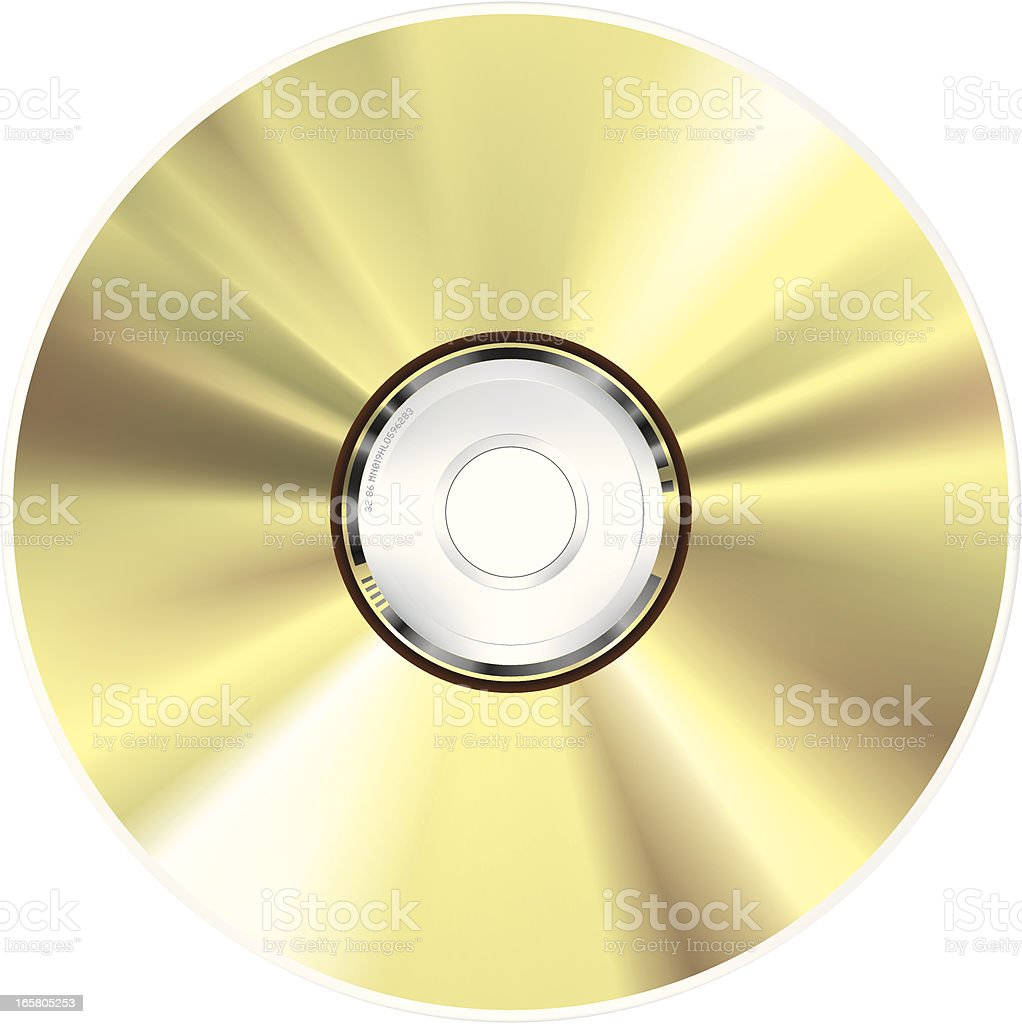 CD-ROM vector art illustration