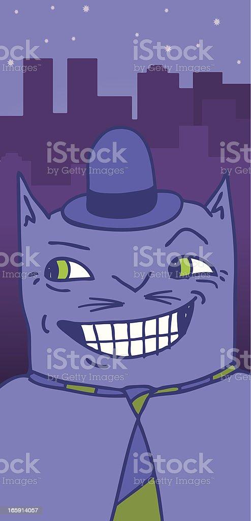 TOM CAT vector art illustration