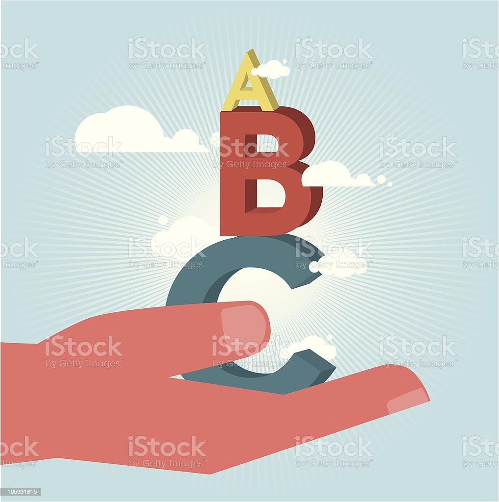 ABC royalty-free stock vector art