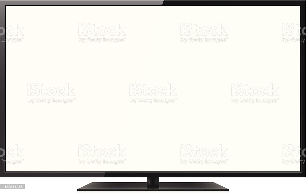 royalty free lcd television clip art vector images illustrations rh istockphoto com clipart television pictures watch television clipart