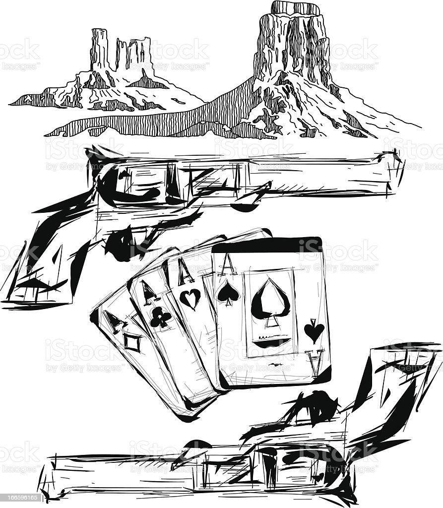 WESTERN ELEMENTS vector art illustration