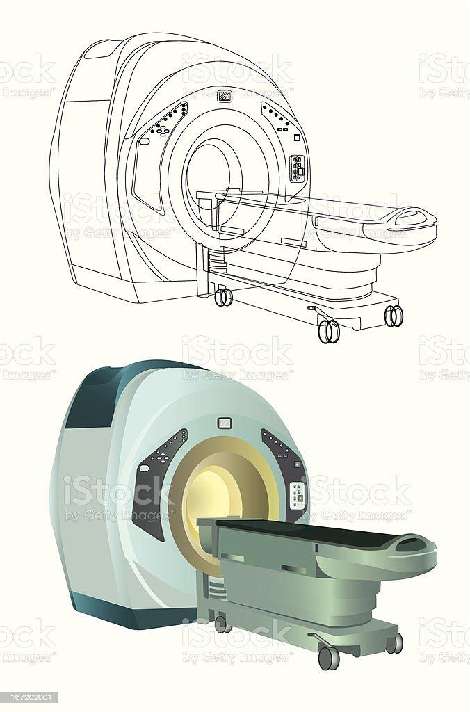MRI (magnetic resonance imaging) vector art illustration