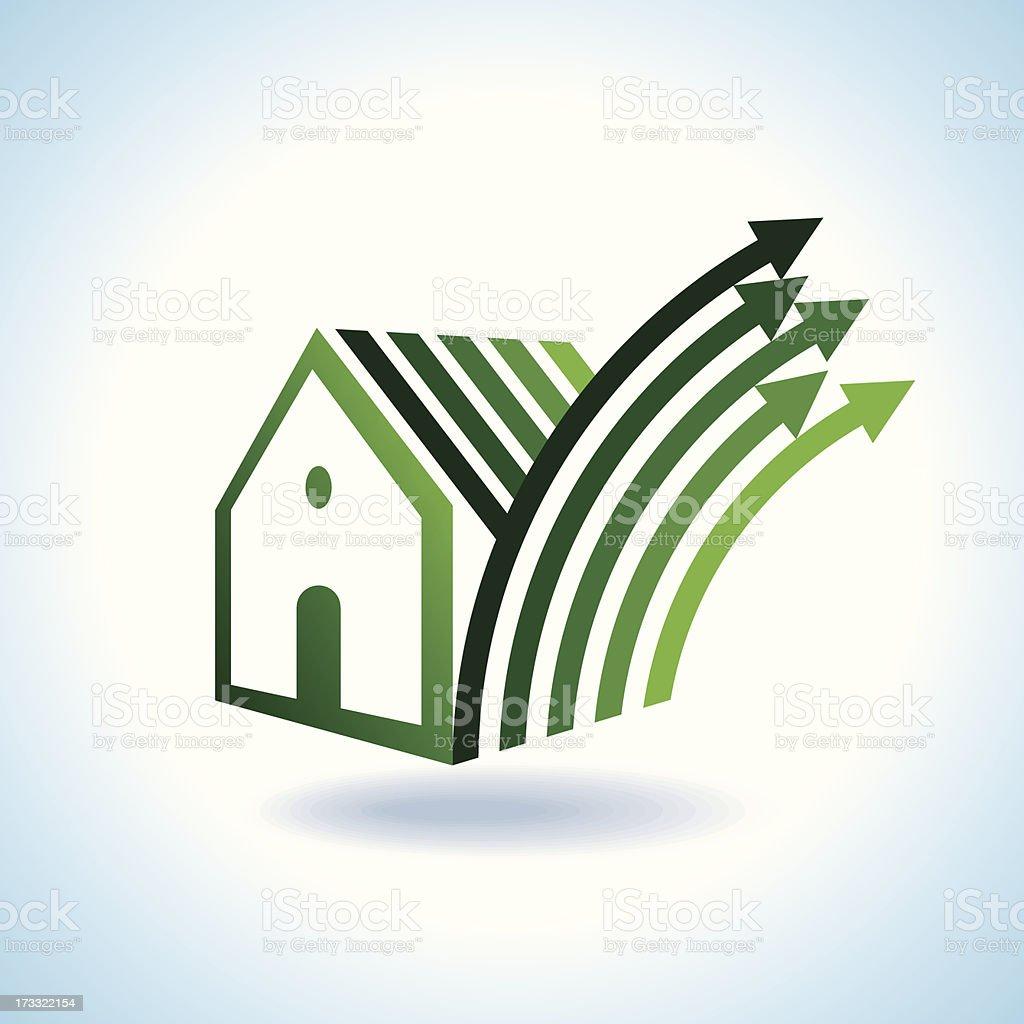 BIO GREEN HOUSES ICONS royalty-free stock vector art