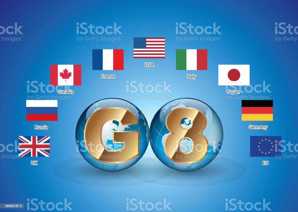 G8 vector art illustration