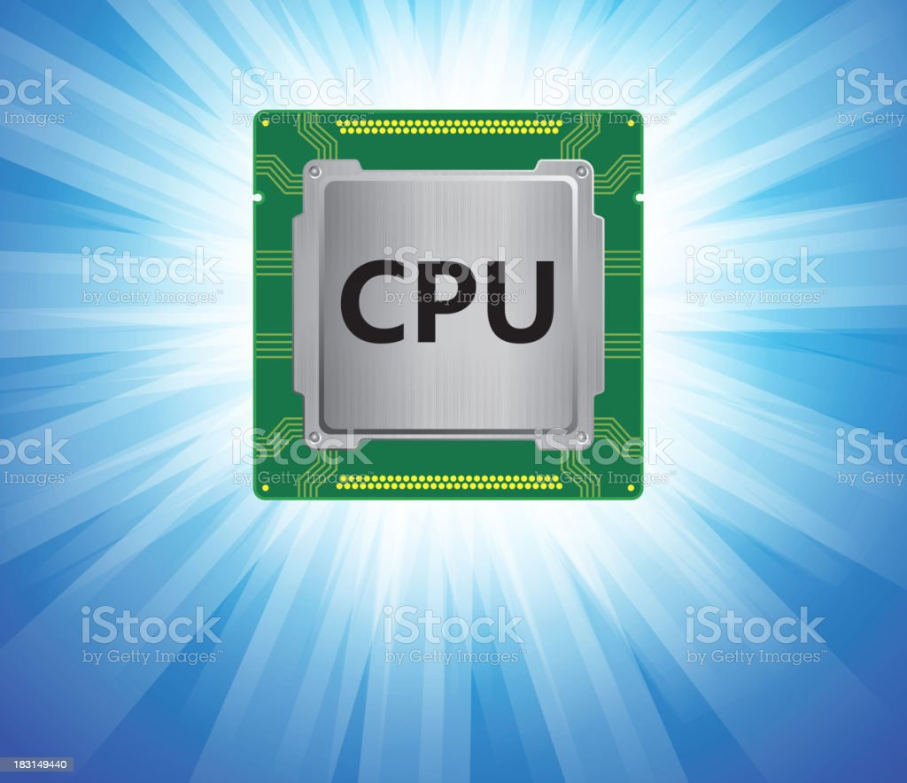 CPU royalty-free stock vector art