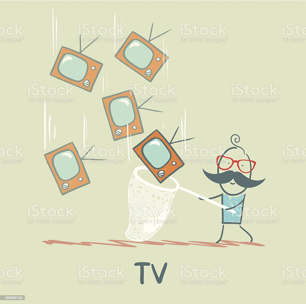 TV royalty-free stock vector art