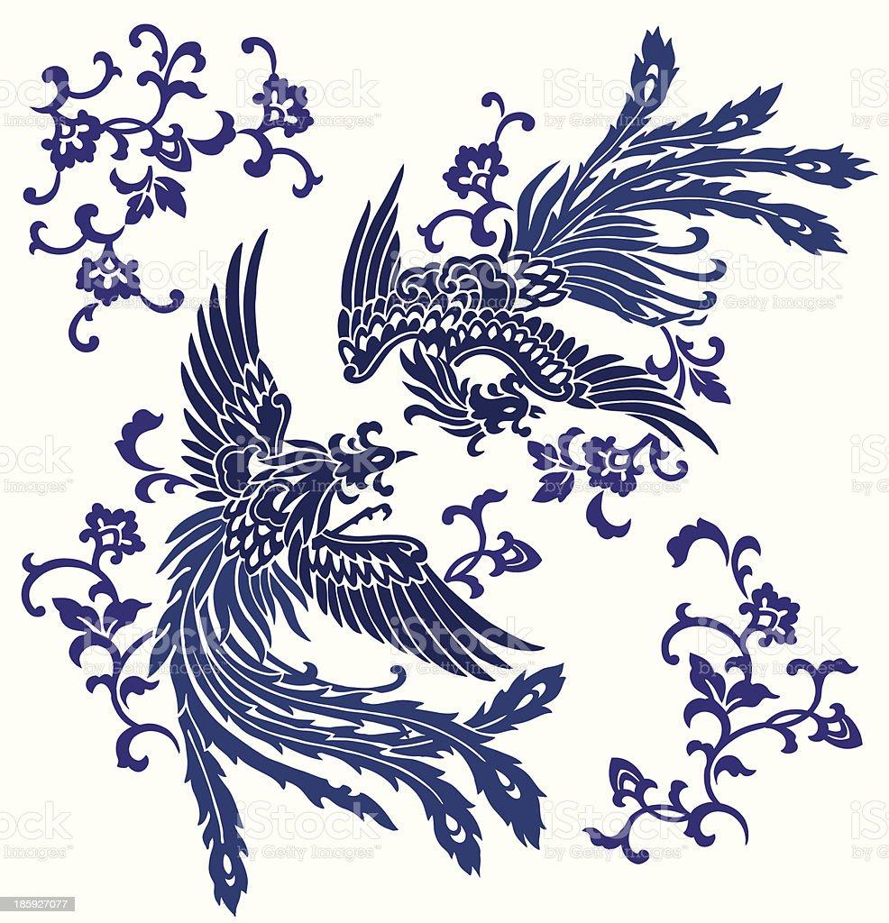 東洋の不死鳥 royalty-free stock vector art