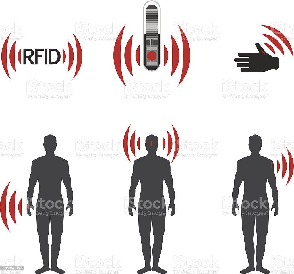 RFID vector art illustration