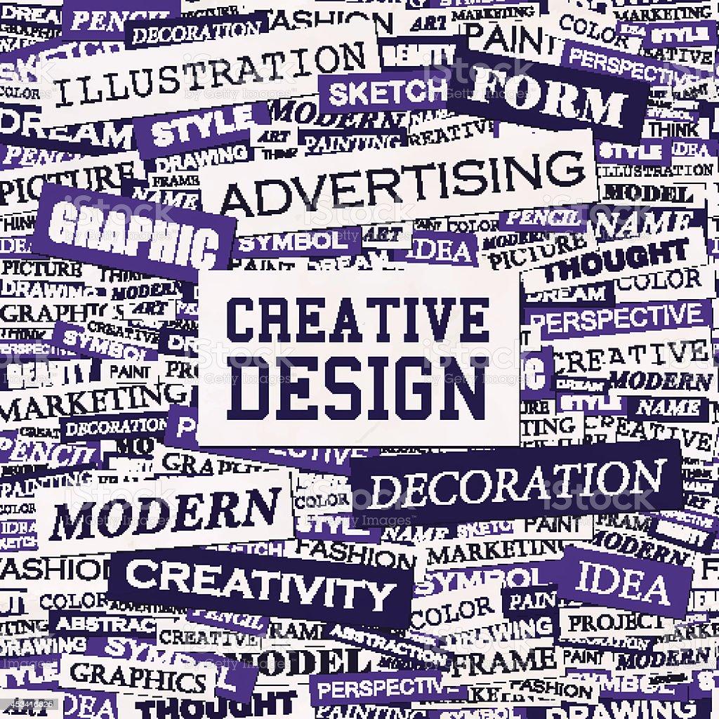 CREATIVE DESIGN vector art illustration