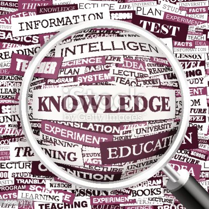 KNOWLEDGE. Background concept wordcloud illustration. Print concept word cloud. Graphic collage.