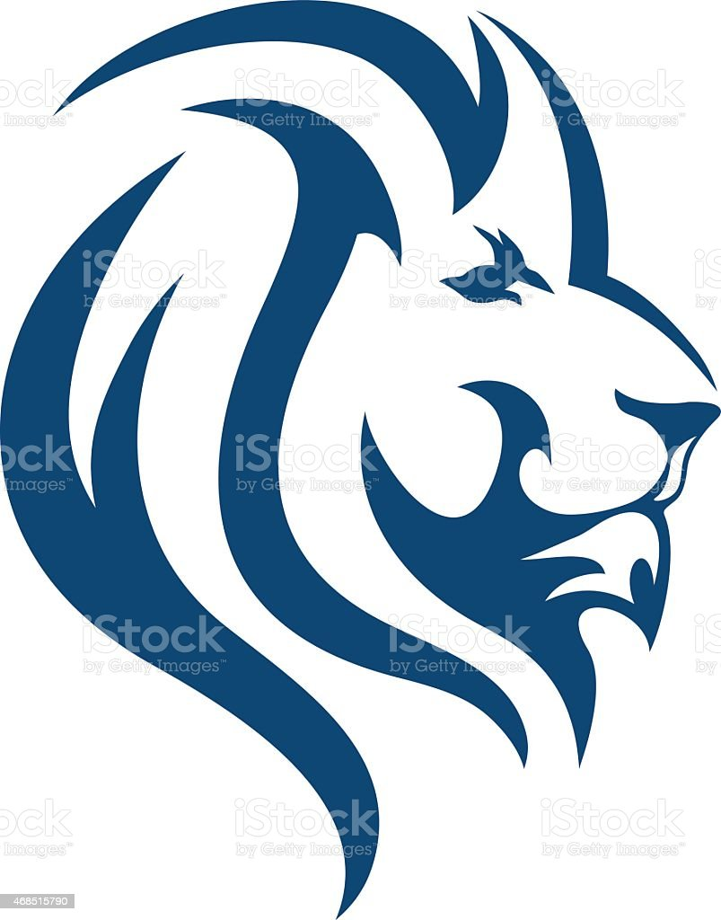 LION SIMPLE ABSTRACT vector art illustration